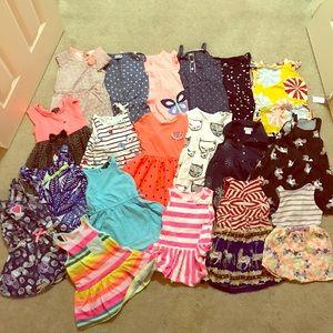 18-24 month 2T rompers dresses girls lot bundle